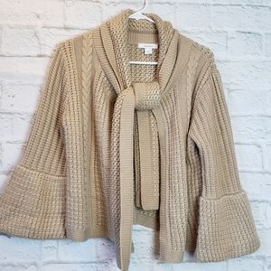 Dress Barn Cardigan w/Attached Scarf! Women's L